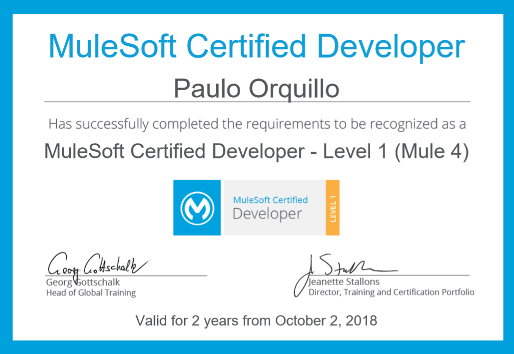 Passed the Mulesoft Certified Developer(Mule4) Level 1 Exam | Just